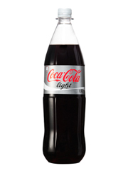 Fles Coca cola light  1 liter