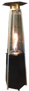 Flameheater design  incl. gas