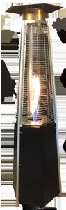 Flameheater design  incl. gas